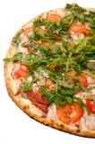 TOP VIEW PIZZA VEGETARIAN GREEN DELICIOUS Stock Photos