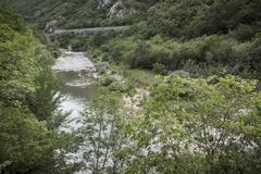 Top view of the Platano river canyon royalty free stock photography