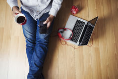 Top view point of copyspace relax time. Royalty Free Stock Photos
