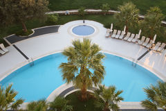 The top view on pool Royalty Free Stock Photos