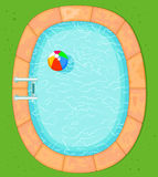 Top View Pool. Illustration of top view pool Stock Image