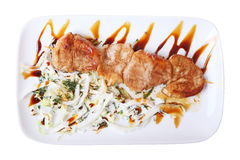 Top view of pork skewer Stock Photography