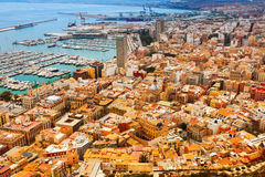 Top view of Port  in Alicante Stock Photography