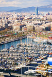 Top view of Port Vell Stock Photos