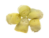 Top view of a portion of artichoke hearts Royalty Free Stock Photo