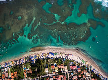 Top view of Porto de Galinhas beach located in Pernambuco State, Brazil Stock Photo