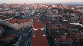 Top view of Porto old city center, Portugal. Travel. stock video