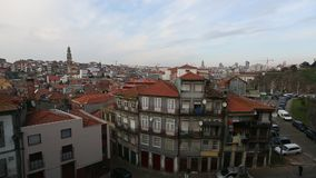 Top view of Porto old town, Portugal. stock video footage
