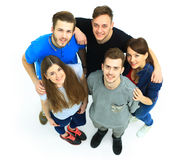 Top view portrait of happy men and women Stock Photography