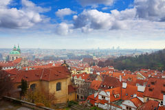 Top view of  Prague Royalty Free Stock Image