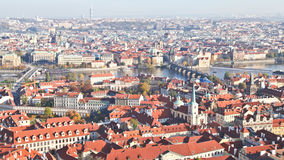 Top view of Prague city Royalty Free Stock Image