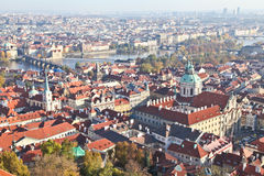 Top view of Prague city Stock Photos