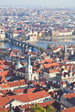 Top view of Prague city Royalty Free Stock Photo
