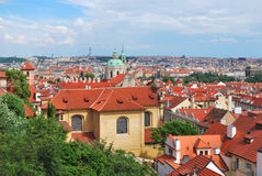Top-view of Prague Royalty Free Stock Photo