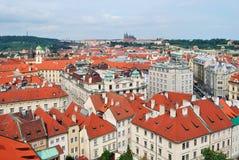 Top-view of Prague Royalty Free Stock Photos