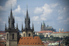 Top view of Prague Stock Image