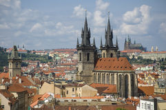 Top view of Prague Stock Photo