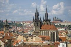 Top view of Prague stock photo