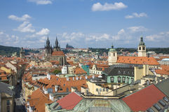 Top view of Prague Stock Photography