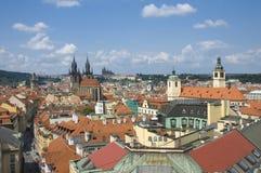 Top view of Prague Stock Photography