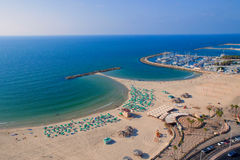 Top view of the promenade of tel Aviv Royalty Free Stock Images