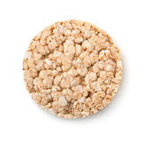 Top view of puffed whole grain crispbread Stock Images