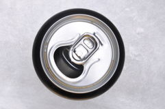 Top view of pull metal can Royalty Free Stock Photography