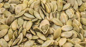 Top view of pumpkin seed Royalty Free Stock Photography