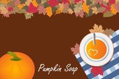 Pumpkin soup concept vector Royalty Free Stock Photography