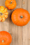 Top view of pumpkins Stock Photo