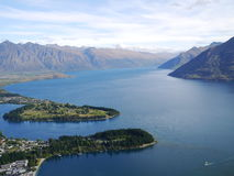 Top view at Queenstown Stock Image