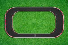 Top view of race circuit. Royalty Free Stock Images