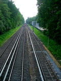 The top view on railway tracks Stock Photos
