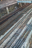 Top view on railway tracks Royalty Free Stock Photo
