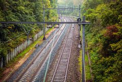 Top view on railway tracks Stock Images