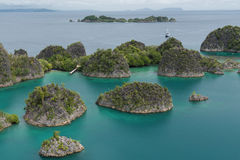 Top view of Raja ampat. It is the beautiful place to taking the photo Stock Photography