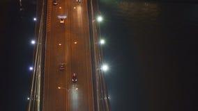 Top view of Rama 8 Bridge in cars transportation concept, Bangkok city, Thailand. 4K cityscape VDO.  stock footage