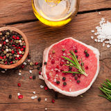 Top view of raw steak meat Stock Photography