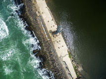 Top view of Recife Coast, located in Pernambuco State, Brazil Stock Photos