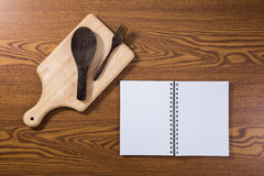 Top view of recipe book Royalty Free Stock Photography