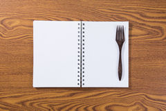Top view of recipe book Stock Images