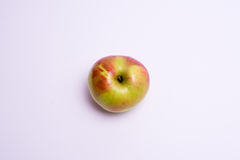 Top view red apple on white background.  Stock Photos