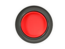 Top View of Red Button Stock Photo