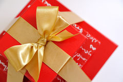 Top view of red present boxes Stock Photos