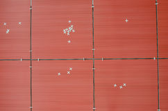 Top view of red tiles Royalty Free Stock Image