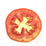 Top View of Red Tomato Stock Image