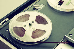 Top view of reel to reel vintage recorder Stock Photos