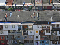 Top view of residential buildings Stock Photo