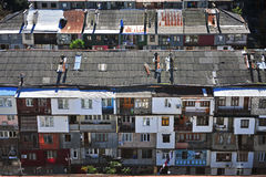 Top view of residential houses in Batumi Stock Photos