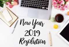 Top view 2019 resolution royalty free stock image